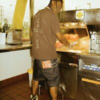 Travis Scott Cactus Jack x McDonald's Box Logo Brown Sesame Tee T-Shirt - Large