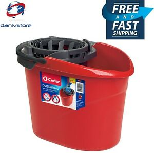 O-Cedar QuickWring Bucket with Torsion Wringer, 2.5 gal