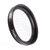 34mm Four 6 Point 6PT Cross Star Effect Filter For Canon Nikon DSLR Camera Lens