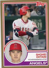 2018 Topps '83 Rookies Gold #831 Shohei Ohtani 34/50 - NM