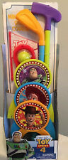 New Disney Toy Story 4 Miniature Golf Course Set Indoor Outdoor Putt Clubs