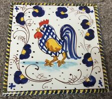 Vietri Pottery-6x6inch Tile With Rooster.Made/Painted by hand in Italy