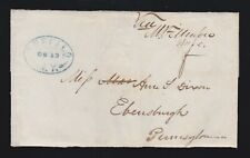 US Autograph President Millard Fillmore Signature on Free Frank Envelope XF