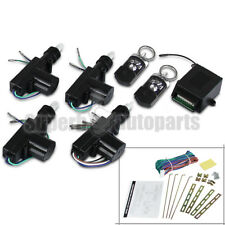 For 4 Door Power Central Lock Kit+2 Keyless Entry Car Remote Control Conversion