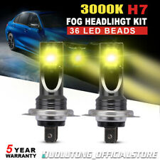 2X H7 YELLOW CREE LED FRONT HEADLIGHT HEADLAMP LIGHT BULBS KIT XENON HL501403