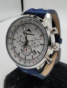 Tommy Bahama Shore Road Chronograph Men's Watch and Bracelet Set - 313522SLV040