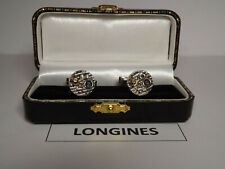 Vintage Longines  Watch Movement: Cufflinks. Cal 320. on SOLID SILVER link base