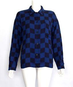 YMC You Must Create - Shirt Jacket  NEW - Black + Blue Check - x 2 Side Pockets
