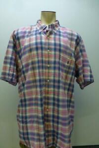 RALPH LAUREN POLO Indian Madras s/s B/U pink camp Shirt mens 3XL Tall 3XT 3XLT