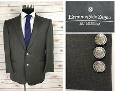 Mint! Ermenegildo Zegna Su Misura Traveller Mens Canvassed Blazer Sport Coat 42S