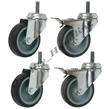 75mm (3 inch) bolt hole castors 2 swivel and 2 braked castors with bolt fitting