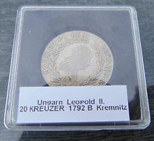 20 Kreuzer 1792 B, Leopold II., Kremnitz, Silber in Kapsel