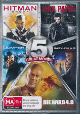 5 DVD Action Die Hard 4.0 Jumper Max Payne Hitman Babylon AD A.d R4