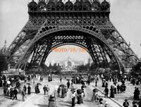 PHOTOGRAPHIE  PARIS  SEINE  QUARTIER PLACE TOUR EIFFEL  1901    PHOTO 18x13