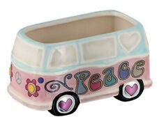 Hippie Peace Van / Bus Planter Pot Ceramic Garden Vase-Basket-Candy Dish