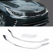 Chrome Front Head Lamp Garnish Cover Trim Molding for KIA 2016 2017 Optima K5