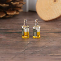 2Pcs 1/12 Dollhouse Miniature Accessories Mini Resin Wine Bottle Model Toys#