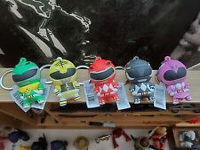 Mighty Morphin Power Rangers - 3-D 5 Keychains Lot