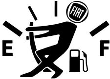 FIAT DECAL FUNNY GAS FUEL DOOR VINYL STICKER CAR TRUCK 12 COLORS 5""