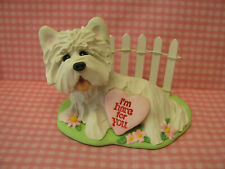"Handsculpted Westie West Highland White Terrier Dog ""I'm here for you"" Figurine"
