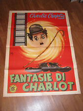 MANIFESTO,1957,FANTASIE DI CHARLOT,CHARLIE CHAPLIN LONGI,,1 EDIZIONE ,RARA!!