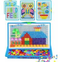 Children Kids Puzzle Peg Board With 296 Pegs Educational For Kids Set Toys L1U8