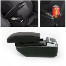 7USB Rechargeable Style Car Central Container Armrest Box Storage w/Light Novel