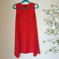 BCBG Maxazria Poppy Red 'Alie' Dress with Assymetrical Cut - Size XXS