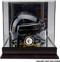 Winnipeg Jets Mahogany Logo Mini Helmet Display Case