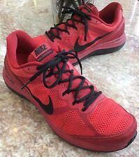 Nike Dual Fusion Run 3 GYM Men's Red/Black Running Shoes Size 14, 653596-601 EUC