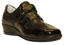 Ladies' Velcro Shoes Waldlaufer 545302 Black UK Size 3 / EU 36 E (Wide) Width