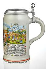 Traditional Munich German Oktoberfest Lidded Beer Stein Mug Wirtekrug 2013 - 1 L