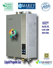 Marey Tankless GA16LPETL Liquid Propane 5.4 GPM Whole House Gas Water Heater