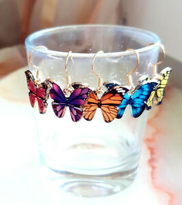 One Pair Earrings Butterfly Various Farvarianten To Selection, Fashion Jewellery