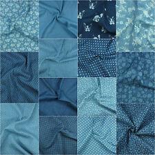 Cotton Pure Denim & Stretch Denim Fabric, Plain, Printed, Floral & More, Metre,