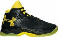 New With Box Under Armour Boy's UA Curry 2.5 Basketball Shoes -Black / taxi