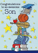 """Greeting Card - Graduation - """"CONGRATS TO AN AWESOME SON!"""" - by Design Design!"""