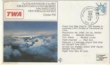1980 USA cover 50th Anniversary First Intercontinental Air Service New York - LA
