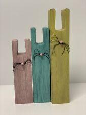 3 Wooden Bunny Décor Set