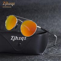 Fashion Vintage Polarized Steampunk Sunglasses Round Mirrored Retro Sunglasses