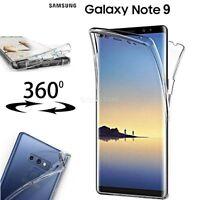 COVER per Samsung Galaxy Note 9 CUSTODIA Fronte Retro 360° SILICONE Slim TPU HD