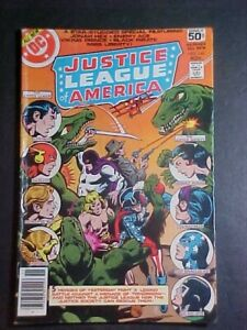 JUSTICE LEAGUE OF AMERICA #160! DINOSAURS! JONAH HEX! VG 1978 DC COMICS
