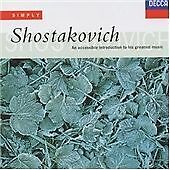 Simply Shostakovich, , Audio CD, Good, FREE & FAST Delivery