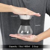 Manuel Cafetière goutte à goutte Cafetière avec filtre en acier inoxydable