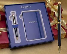 Waterman Hemisphere Ballpoint Pen Gift Set - Gloss Black Gold Trim