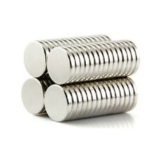 Set Of 50 Pieces 10mm x 2mm Round Rare Earth Neodymium Strong Magnets N52