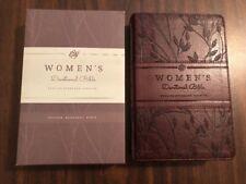 ESV Womens Devotional Bible - $54.99 Retail - Burgundy Birch TruTone