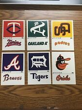 (6) 1982 Fleer Baseball Team Logo Sticker Lot G