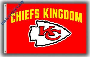 Kansas City Chiefs KINGDOM Football Team Fan Souvenirs flag 90x150cm3x5ft banner