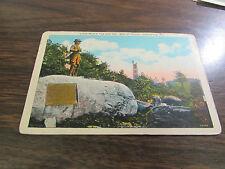 VINTAGE - LITTLE ROUND TOP & GEN. WARREN STATUE - GETTYSBURG PA  - POST CARD